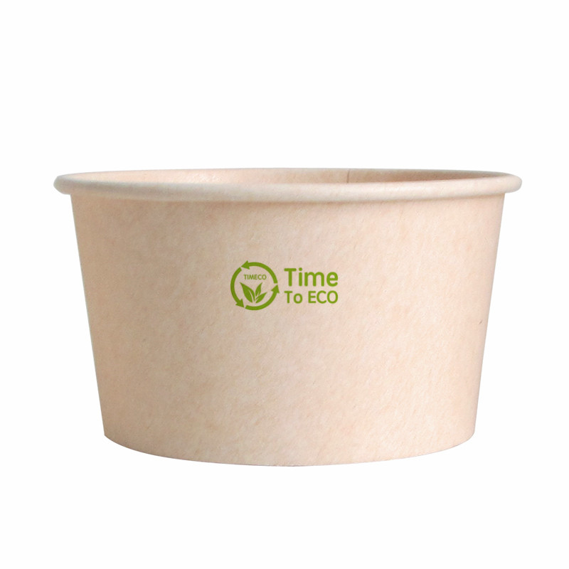 270ml PLA Bagasse Paper Soup Bowl