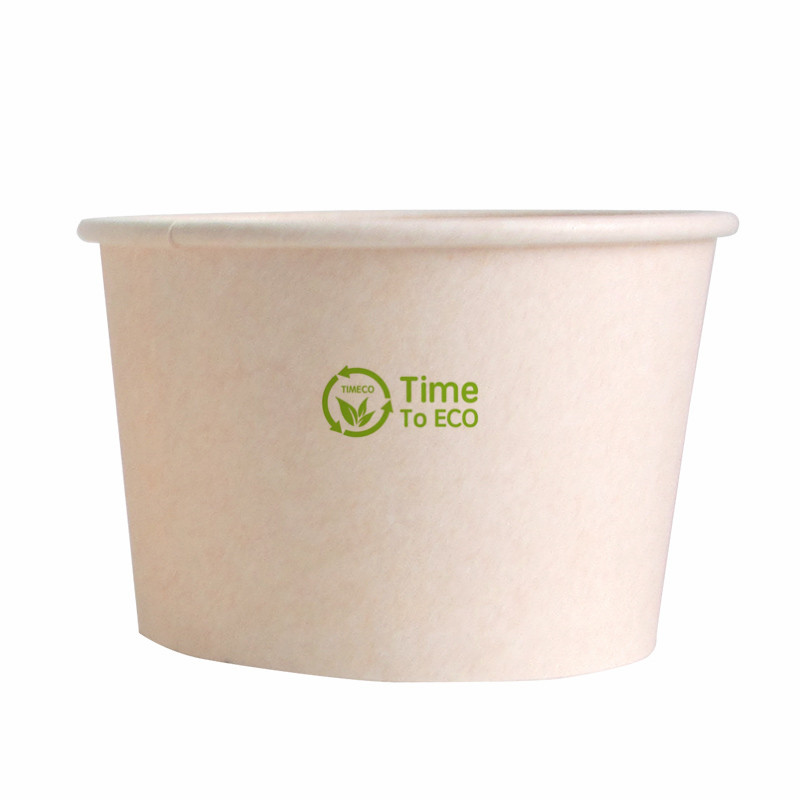 440ml PLA Bagasse Paper Soup Bowl