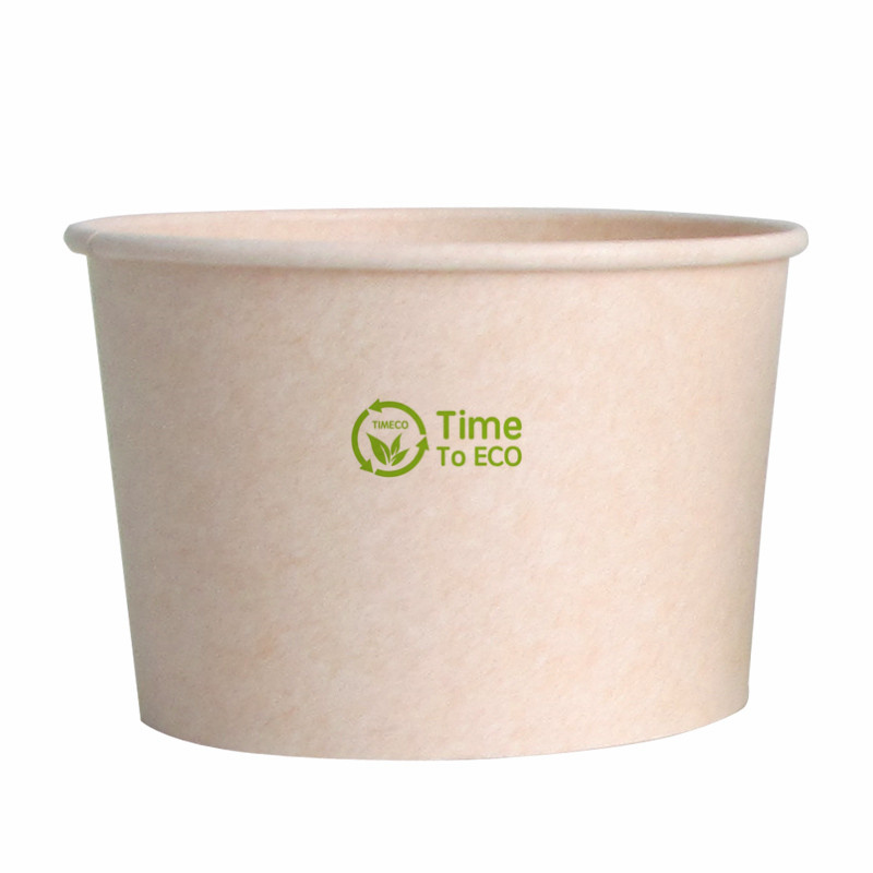 530ml PLA Bagasse Paper Soup Bowl