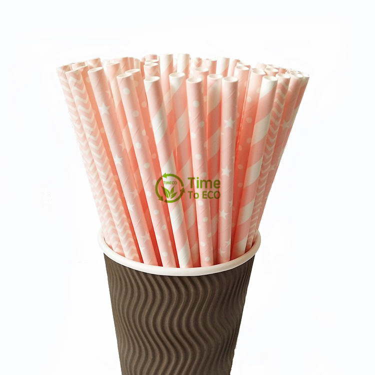 Candy color paper straws