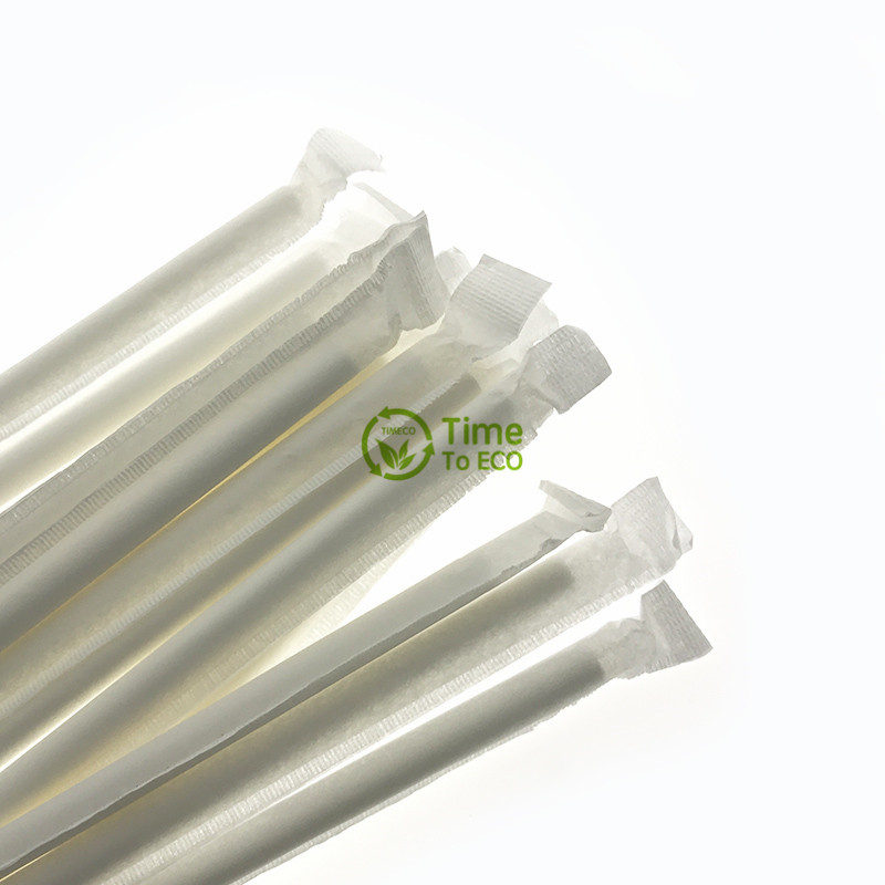 Paper wrapped paper straws