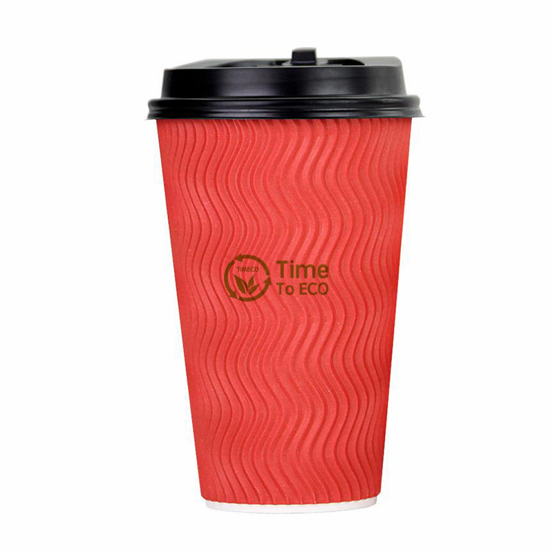 S Ripple Corrugated Bagasse Paper Cups