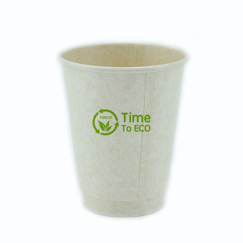 8 oz PLA Double Wall Bagasse Paper Cup