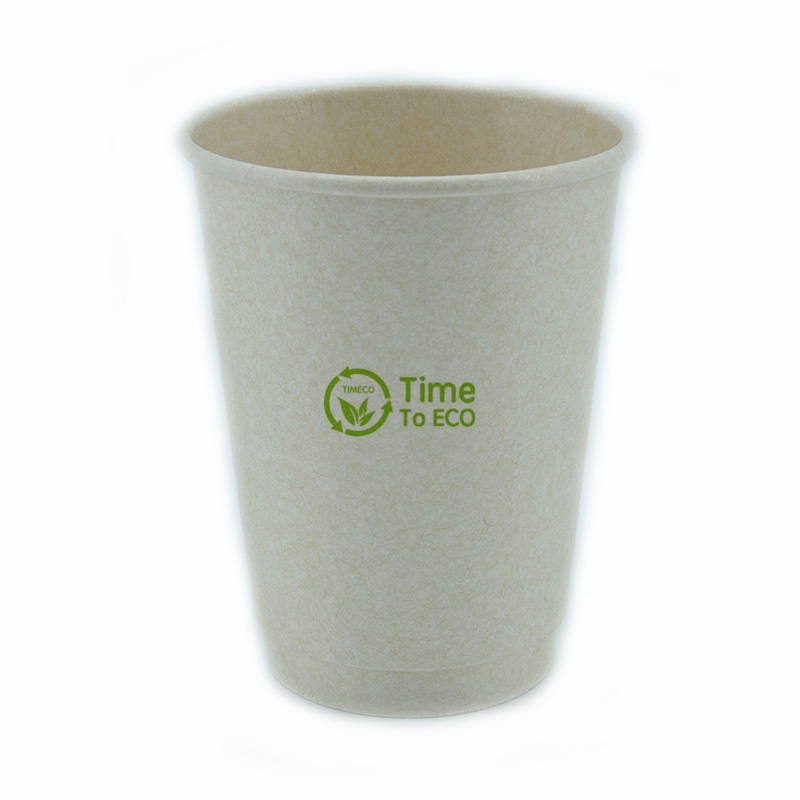 12 oz PLA Double Wall Bagasse Paper Cup