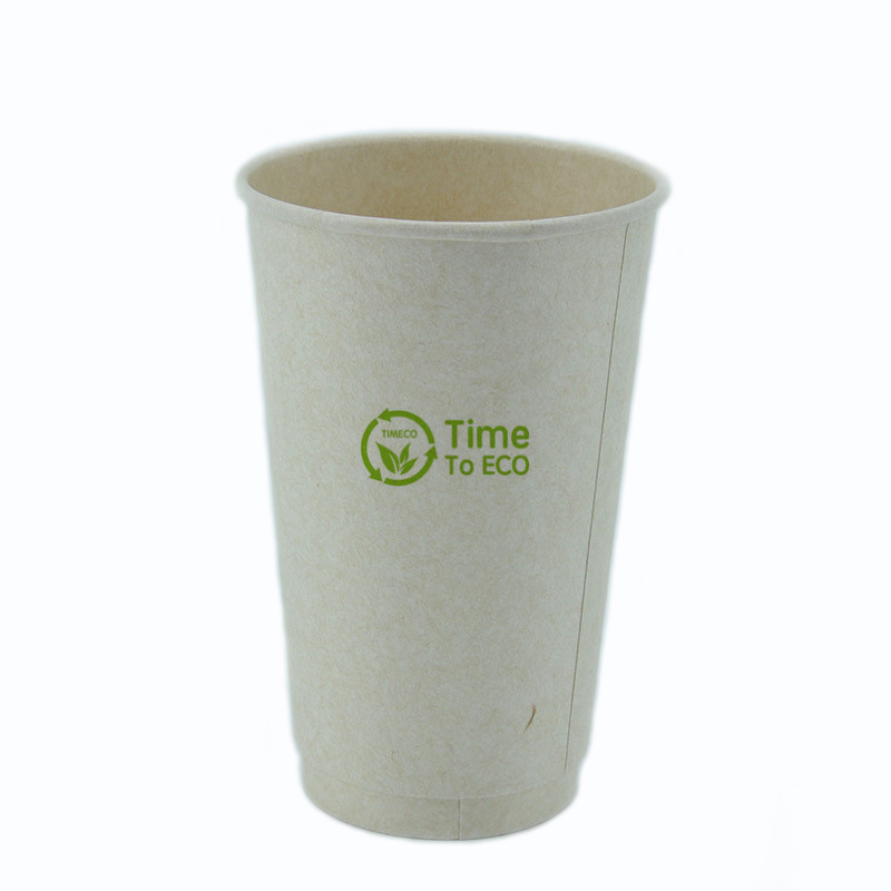 16 oz PLA Double Wall Bagasse Paper Cup
