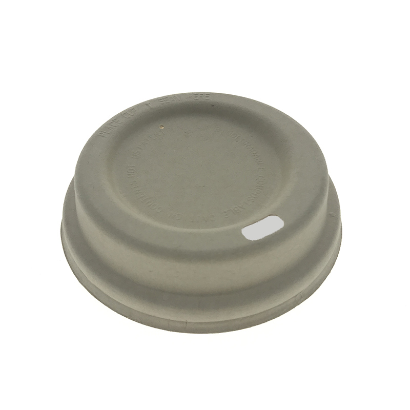 80mm Molded Bagasse Pulp Cup Lid