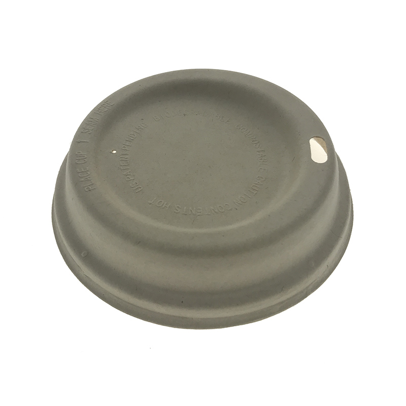 90mm Molded Bagasse Pulp Cup Lid
