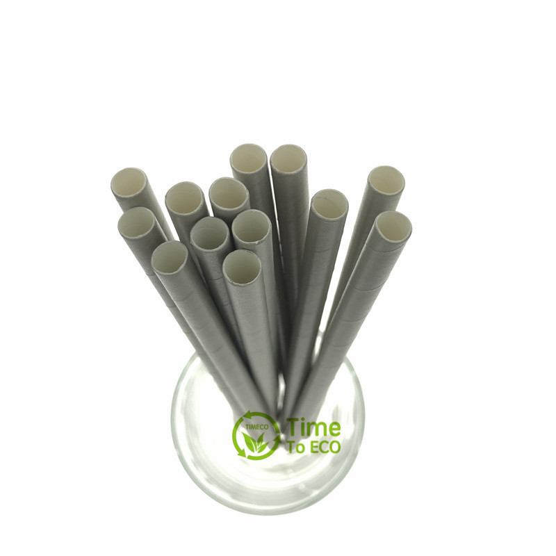 7mm Plain grey color paper straw