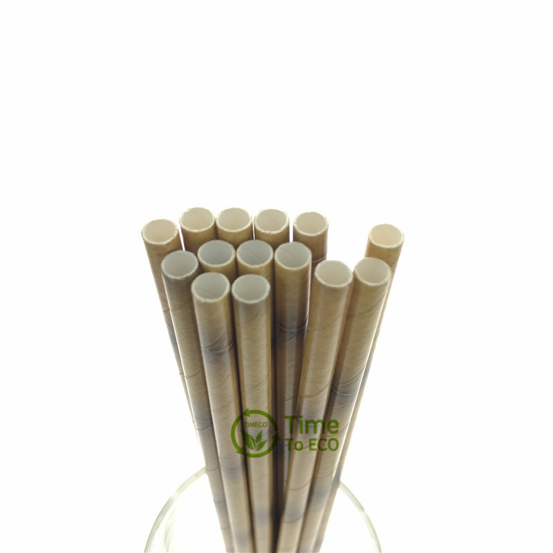 Bamboo design paper straw