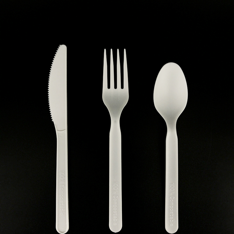 Eco friendly biodegradable disposable CPLA cutlery