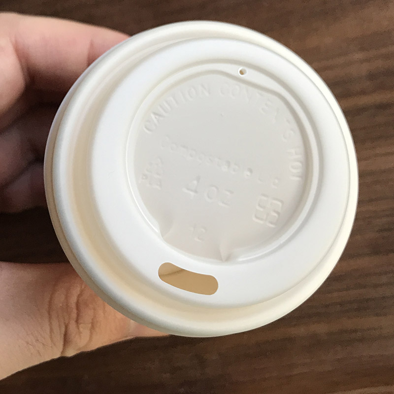 62mm Compostable CPLA Coffee Cup Lid