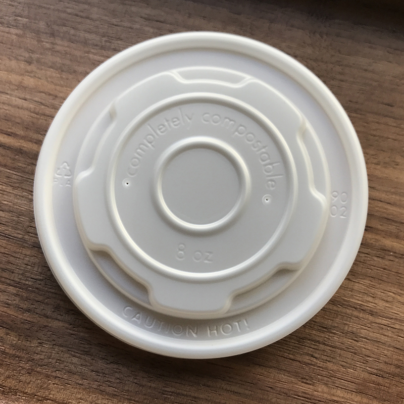 Compostable CPLA Soup Cup Lid