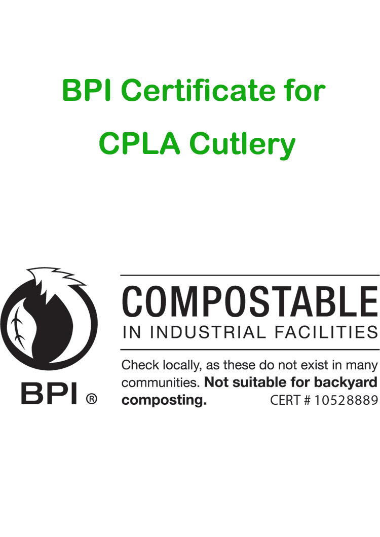 BPI Certificate for CPLA Cutlery