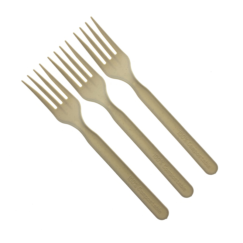 Natural color Eco-friendly biodegradable CPLA fork